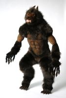OOAK Poseable art doll, Werewolf Commision by FellKunst