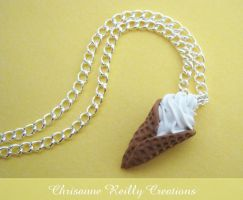 Soft Ice Cream Necklace by magur