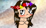 Samson with a flower crown by CandyAndNess