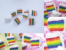 Rainbow Cake Charms by Shelby-JoJewelry