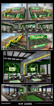 Presidente VIP ZONE at  Estadio Quisqueya by kusanagisensei