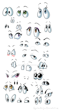 Cartoon eyes mix by Angi-Shy