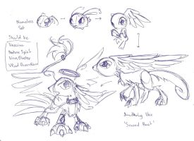 A nameless fan digimon by Winged-Dragoness
