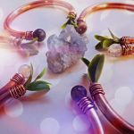 Magickal Gemstone and Copper Bangles by cranegoose