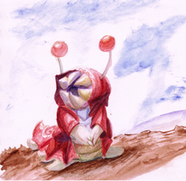 A Crappy Genji Watercolor Doodle by foxwolf333