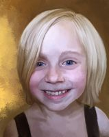 Portrait of my kids - Kaya by Athey