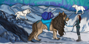 Rite Of Fortitude: Rest At The Mountain Pass by lighteningfox
