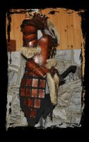 female leather armor side view A by Lagueuse