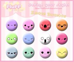 Emote Buttons by Fluffntuff
