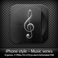 iPhone style - MUSIC SERIES by YaroManzarek