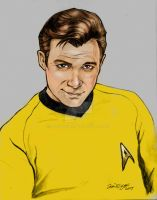Captain Kirk Portrait Study by hoganvibe