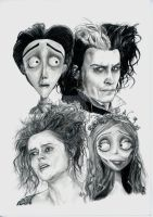 Tim Burton Homage by SolariAradia