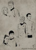 Sketchdump- Trek Couples by AlissaJovino