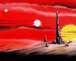 Under_Red_Sky by EveLWillow
