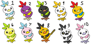 Torchic Adoptables by pikachumasterfriends
