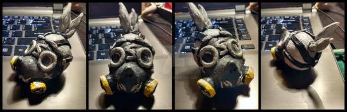 Sculpture- Roadhog head sculpt ^-^XD!! by AshinoX1