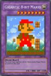 Gigantic 8-bit mario card by The-not-Mario-guy
