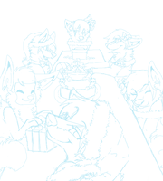 Gift giving WIP by Blind-Kidd