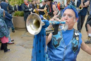 2014 Honk Festival, Chaotic Noise Up Close 12 by Miss-Tbones