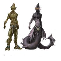 Fishman Lower Caste and Oracle by Choochoomedic