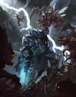 The King Arthas against The Swarm of Kerrigan by MorkarDFC