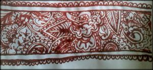 Braselet red henna design by Aniiron