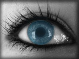 Blue Eyes by VolpeTrickster
