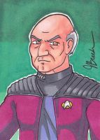 Sketch Card #85 - Captain Jean-Luc Picard by destinyhelix