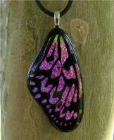 Pink Mix Woodnymph Glass Wing by FusedElegance