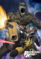Rocket Raccoon and Groot by RecklessHero