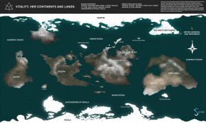 Vitality World Map ( Known Land Masses ) by FutureFavorite