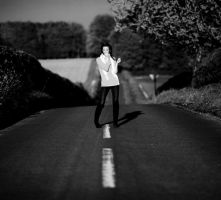 Back and White Road by rosannabell