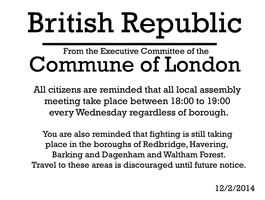 London Commune Proclamation by Party9999999