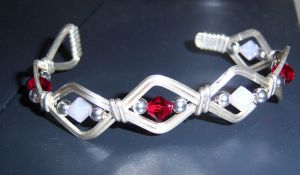 Silver and crystal bracelet by Not-Broken