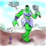lucy luckless and the orc girl 1 DAHC by MyEgoTripped