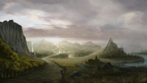 illustration landscape by Gycinn