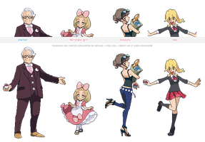 Pokemon XY trainer sprites ( I ) by Nephae
