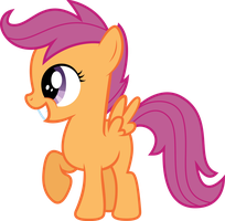 Scootaloo Grin by fallingcomets