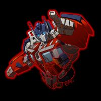 "Optimus Prime ""digitized"" by REX-203"