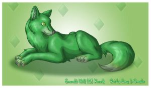 Commission - Emerald Wolf by AmyJSmylie