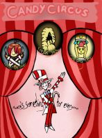 Candy circus poster by KalviBerry