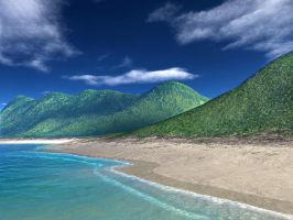 TG95 Tropical Beach by sixwings