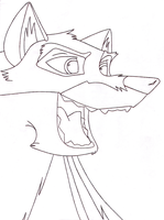 Is Balto Evil_Inked Outline by wildtiel