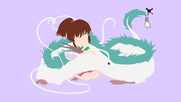 Chihiro and Haku from Spirited Away | Minimalist by matsumayu