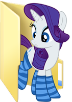 Custom Rarity folder icon (Sockies!) by Blues27Xx