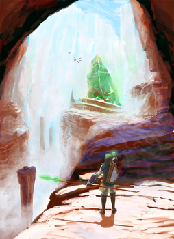 Link and the Crystal Chasm by Spire-III