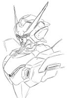 Break Gundam head design draft by Twilight-Hikari
