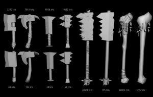 Warhammer Weapons - WIP by jotun