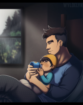 Dream Daddy - Quiet Evening by WyldeElyn