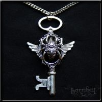 Black Widow Keyholder Necklace by Horribell-Originals